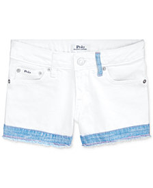 Polo Ralph Lauren Big Girls Cotton Denim Shorts