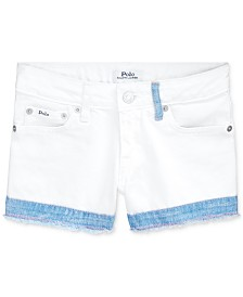 Polo Ralph Lauren Big Girls Cotton Denim Shorts