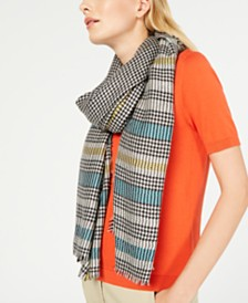 Weekend Max Mara Farnese Plaid Fringe-Trim Scarf