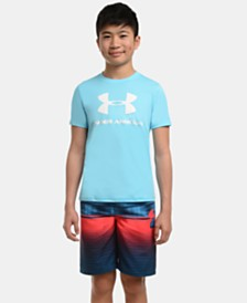 Under Armour Big Boys Mixed-Print Volley Swim Trunks