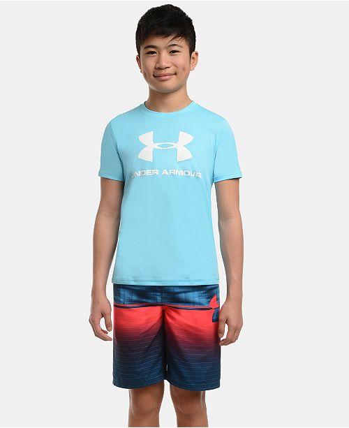 Under Armour Big Boys Mixed-Print Volley Swim Trunks