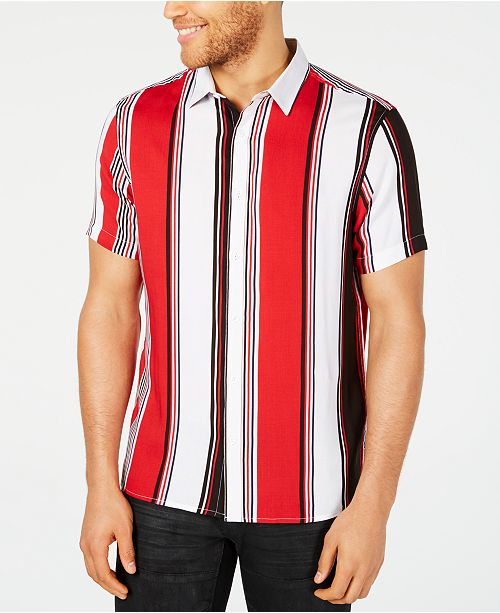 INC International Concepts I.N.C. Men's Marco Striped Button-Down Shirt, Created for Macy's