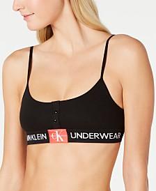 Calvin Klein Women's Monogram Mesh Unlined Bralette QF5206