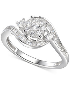 Cubic Zirconia Multi-Stone Ring in Sterling Silver