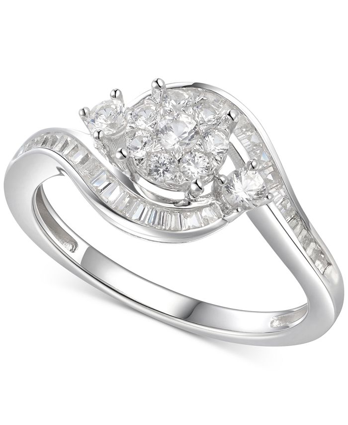 Macy's - Cubic Zirconia Multi-Stone Ring in Sterling Silver