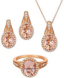 Peach & Nude™ Jewelry Set in 14k Rose Gold
