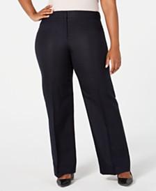 Calvin Klein Plus Size Wide-Leg Pants