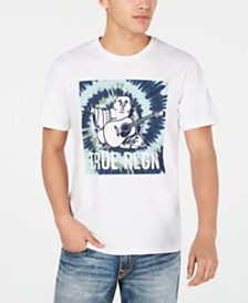 True Religion Men's Tie Dye Buddha T-Shirt