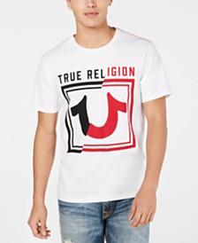True Religion Men's Spliced Logo T-Shirt