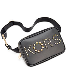 MICHAEL Michael Kors Studded-Logo Belt Bag