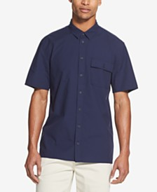 DKNY Men's Seersucker Short Sleeve Shirt
