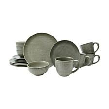 Sango Kain Taupe 16 Piece Dinnerware Set