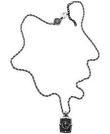 Men's Black Agate Necklace