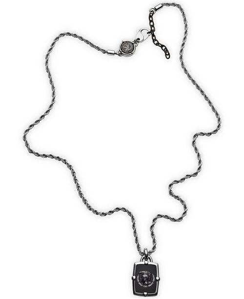 Diesel Men's Black Agate Necklace