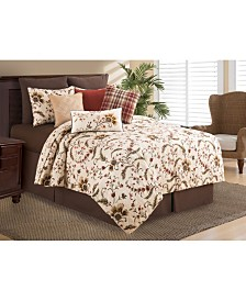 Autumn Bloom King Quilt Set