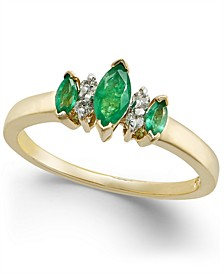 Emerald (1/4 ct. t.w.) & Diamond Accent Ring in 14k Gold
