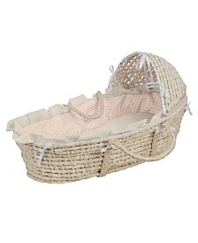 Badger Basket Natural Moses Basket with Hood