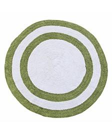 "Two Tone 36"" Reversible Cotton Bath Rug"