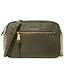 c7109c59ad11 Michael Kors Leila Flap Messenger Nylon Crossbody & Reviews ...
