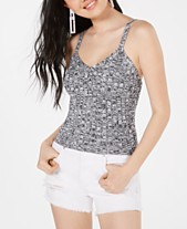 28f4c016 Hooked Up by IOT Juniors' Marled Rib-Knit Sweater Tank Top