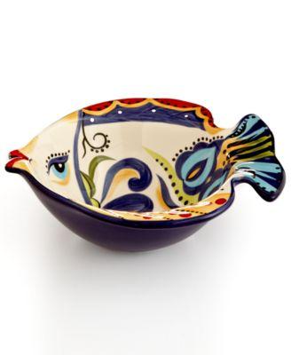 Espana Bocca Geo Fish Cereal Bowl  sc 1 st  Macy\u0027s & Espana Bocca Geo Fish Cereal Bowl - Dinnerware - Dining ...