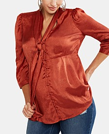 Maternity Tie-Neck Blouse