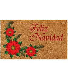 """Feliz Navidad 17"""" x 29"""" Coir/Vinyl Doormat"""