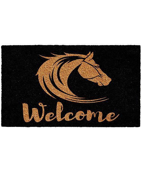 """Home & More Stallion Welcome 17"""" x 29"""" Coir/Vinyl Doormat"""