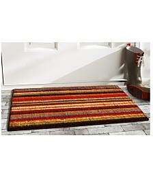 "Palisades Stripe 24"" x 36"" Coir/Vinyl Doormat"