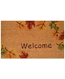 "Autumn Breeze 17"" x 29"" Coir/Vinyl Doormat"