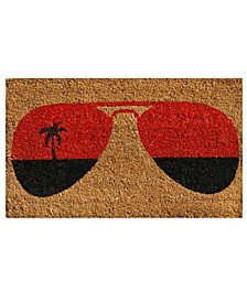 "Tropical View 17"" x 29"" Coir/Vinyl Doormat"