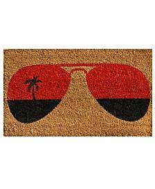 """Tropical View 17"""" x 29"""" Coir/Vinyl Doormat"""