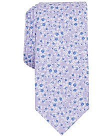 Bar III Men's Watercolor Floral Print Skinny Tie, Created for Macy's