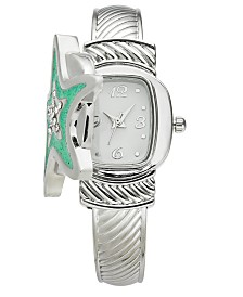 Charter Club Women's Silver-Tone Flip Starfish Bracelet Watch 25mm, Created for Macy's