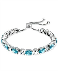 Charter Club Crystal & Stone Slider Bracelet, Created for Macy's