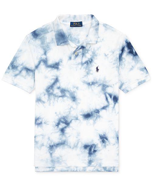 34984e4eba Polo Ralph Lauren Big Boys Tie-Dye Cotton Mesh Polo Shirt & Reviews ...
