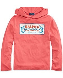 Polo Ralph Lauren Big Boys Cotton Jersey Hooded Graphic T-Shirt
