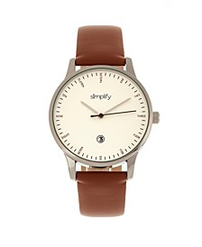 Quartz The 4300 Silver Case, Genuine Brown Leather Watch 42mm