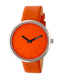 Quartz The 4000 Genuine Orange Leather Watch 43mm