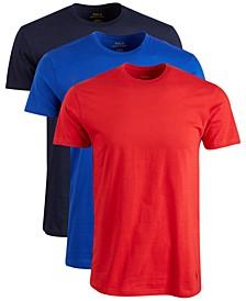 Men's Classic Crew-Neck Cotton T-Shirt, 3-Pk.