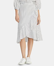 RACHEL Rachel Roy Esta Striped Ruffled Skirt