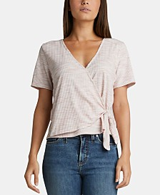 Silver Jeans Co. Adrea Heathered Surplice Top