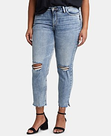 Silver Jeans Co. Trendy Plus Size Avery Curvy-Fit Slim-Leg Jeans