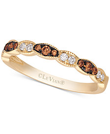 Le Vian Chocolatier® Diamond Band(1/5 ct. t.w.) in 14k Gold