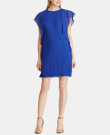 Lauren Ralph Lauren Petite Ruffled Georgette Dress