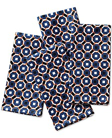 Octagon Geo Navy Napkins, Set of 4