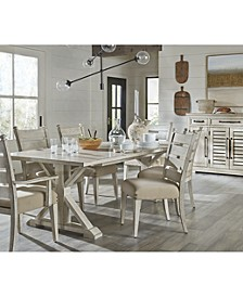 Trisha Yearwood Coming Home Dining 7-Pc. Set (Table, 4 Side Chairs & 2 Arm Chairs)