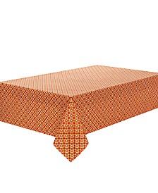 "C. Wonder Octagon Geo Orange 104"" Tablecloth"