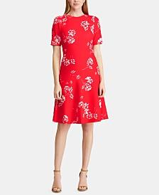 Lauren Ralph Lauren Petite Floral Jacquard Crepe Dress