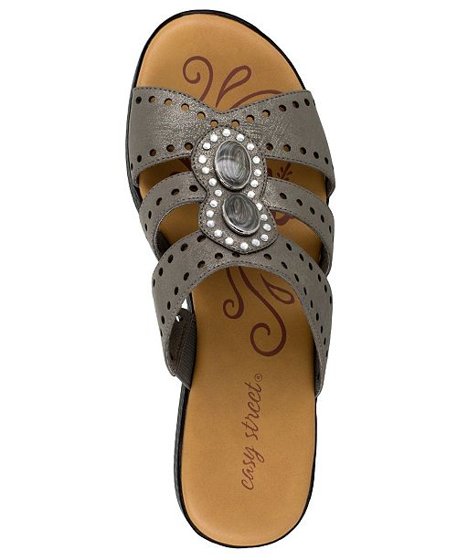 72ba3a645 Easy Street Vara Jeweled Sandals   Reviews - Ladies Shoes - SLP - Macy s